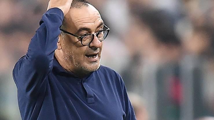 Juventus-Trainer Maurizio Sarri sah in Lecce nur ein 1:1 seiner Mannschaft