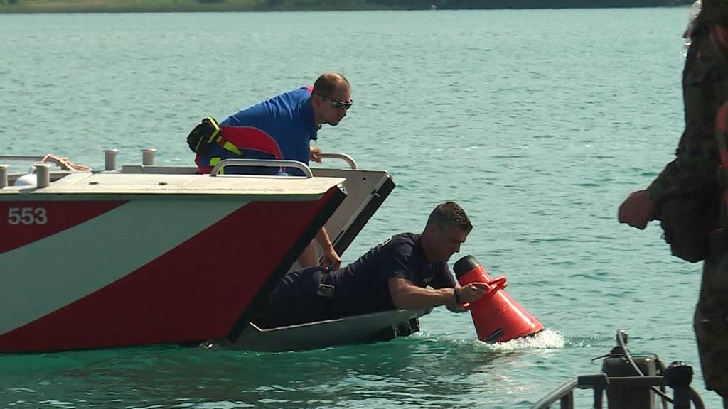 Suche im Hallwilersee: Einsatzkräfte suchen nach vermisstem Schwimmer
