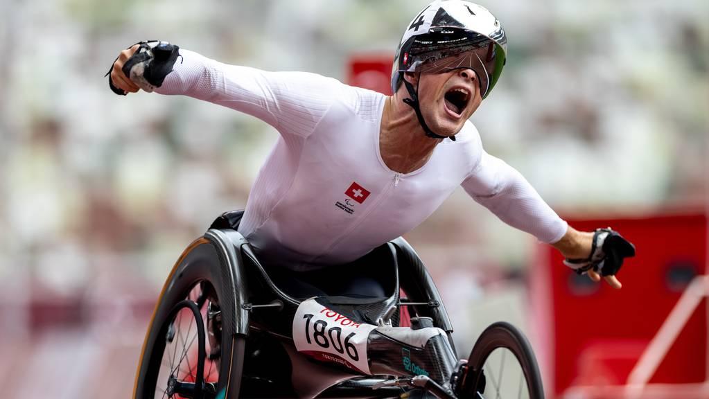 Marcel Hug zeigt starke Paralympics: Der Thurgauer holt bereits die zweite Goldmedaille.