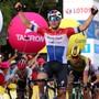 Der Gewinner der 4. Vuelta-Etappe heisst Fabio Jakobsen. Der niederländische Meister setzte sich im Massensprint vor Sam Bennett durch