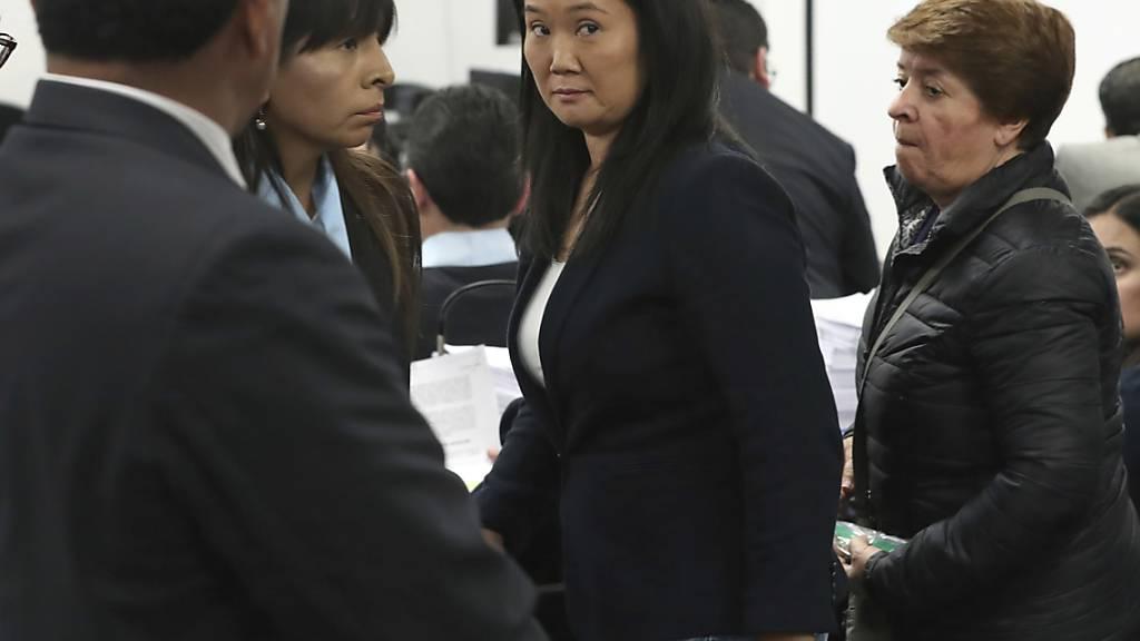 ARCHIV - Die peruanische Oppositionspolitikerin Keiko Fujimori während einer Anhörung. Foto: Martin Mejia/AP/dpa