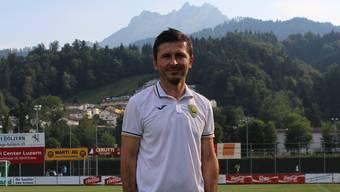 Marinko Jurendic posiert auf dem Krienser Kleinfeld