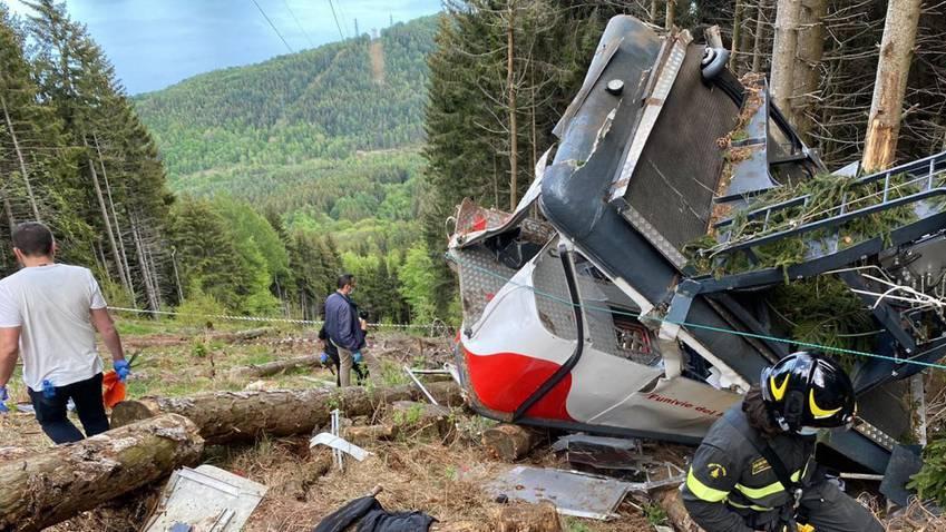 Seilbahn-Unglück am Lago Maggiore fordert 14 Tote