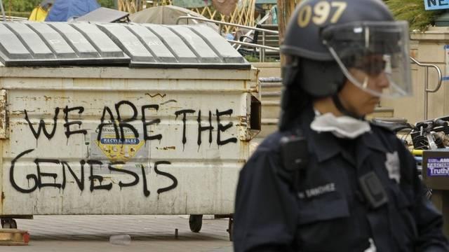 In Oakland ist die Polizei mit Tränengas gegen Demonstranten vorgegangen (Archiv)