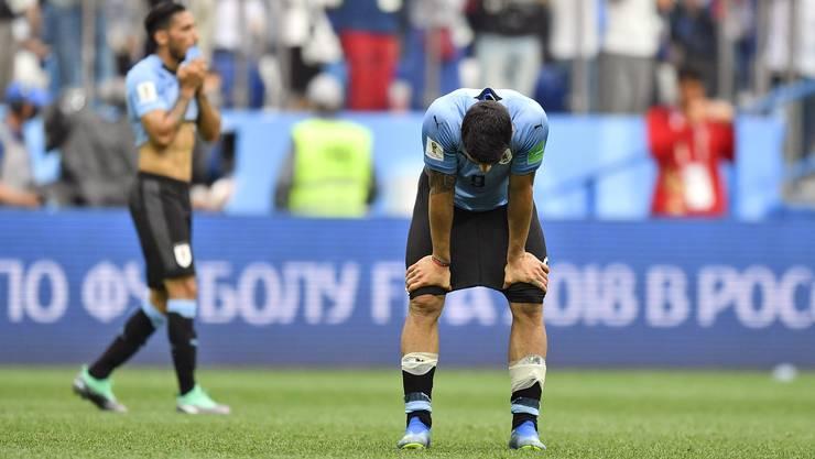 Die Uruguayer sind enttäuscht über das Ausscheiden.