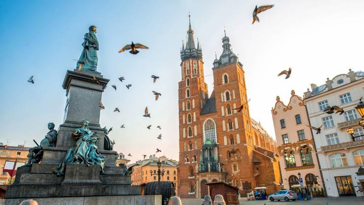 Die Marienkirche am Marktplatz ist ein Wahrzeichen von Krakau.