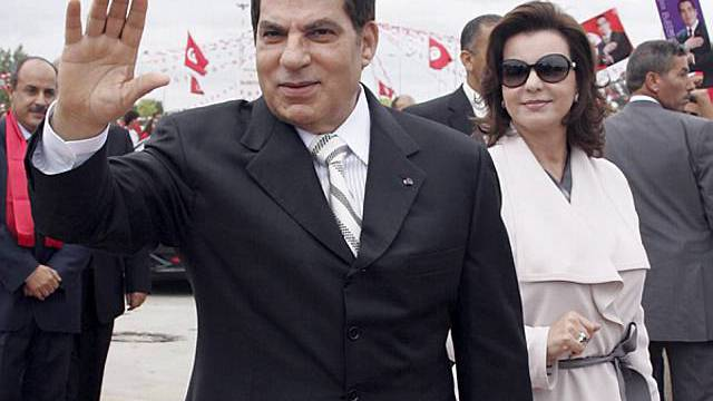 Ben Ali mit seiner Gattin (Archiv)