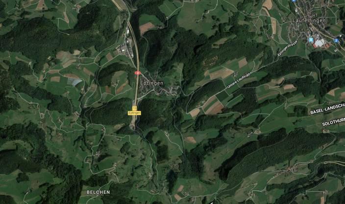 Ereignet hat sich der Unfall kurz nach dem Belchentunnel Richtung Basel.
