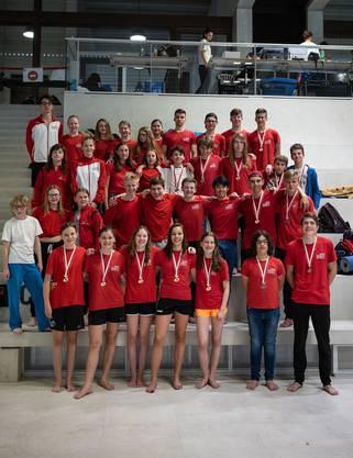 Die acht Teams der Jugendgruppe. Davon sind zwei Schweizermeister und zwei Vize-Schweizermeister.