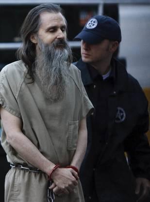 Brian David Mitchell, als er zum Prozess in Salt Lake City gebracht wird (2010)