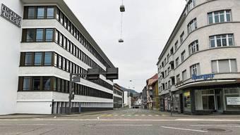 Ein Bild mit Seltenheitswert: Kein Auto weit und breit in Baden, wo normalerweise Stau herrscht.