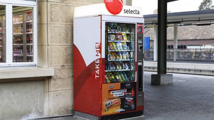 Der Selecta Automat beim Bahnhof Grenchen Nord.