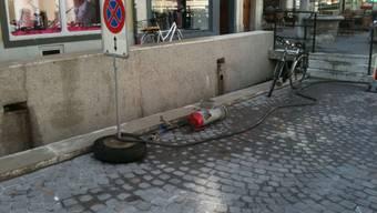 Hydrantbruch in Aarau