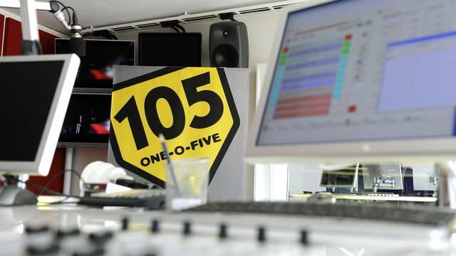 Blick ins Studio von Radio 105 in Zürich (Archiv)
