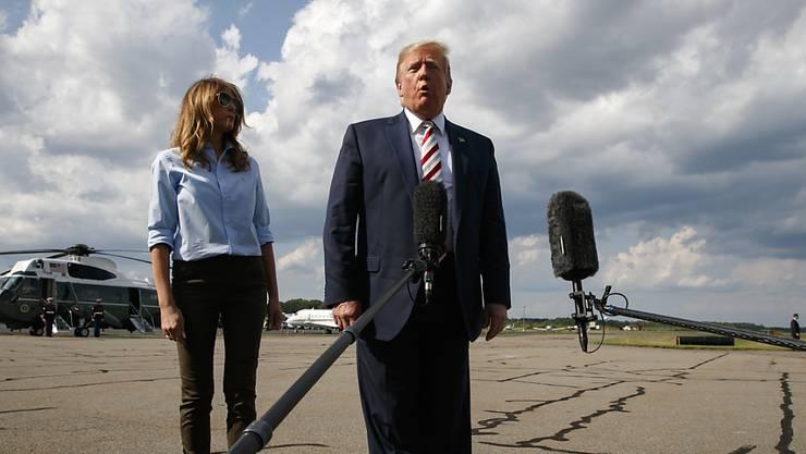 US-Präsident Donald Trump hat am Sonntag für den heutigen Montag eine Erklärung zu den beiden Schusswaffenangriffen vom Wochenende angekündigt.