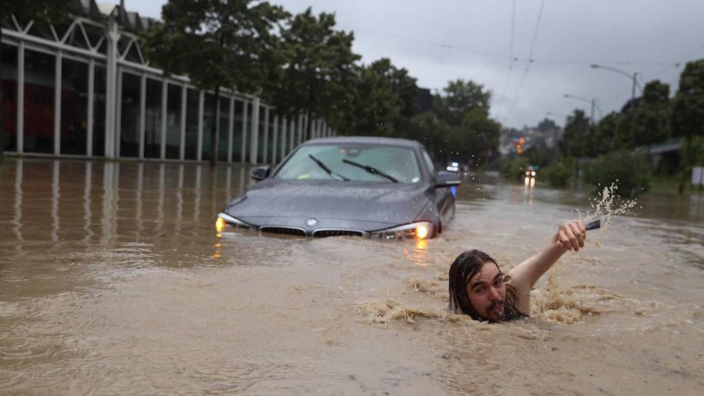 Heftige Regenfälle setzten Luzern unter Wasser