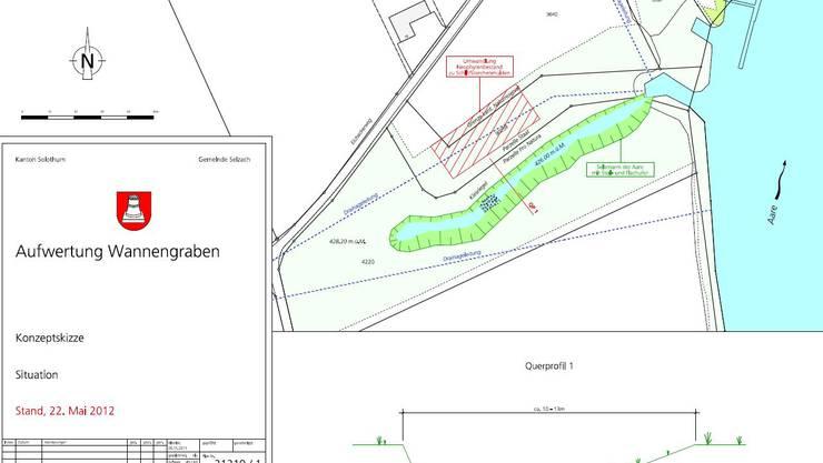 Plan zur Aufwertung des Wannengrabens