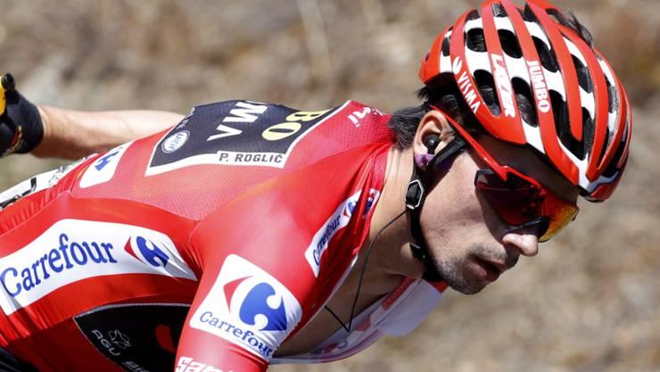 Der slowenische Leader Primoz Roglic sitzt in der Vuelta weiter fest im Sattel