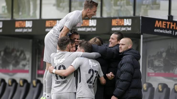 Der FC Aarau konnte die letzen fünf Direktduelle gegen Schaffhausen für sich entscheiden.
