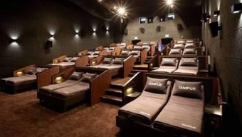 Filmgenuss mit Komfort: In Südkorea gibt es Tempur-Betten-Kinos.