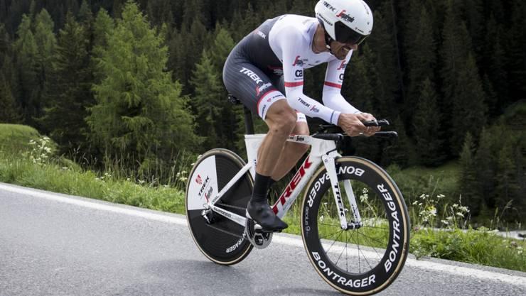 Fabian Cancellara - im Bild an der Tour de Suisse - gewann in Martigny ohne Probleme zum zehnten Mal den Schweizer Meistertitel im Zeitfahren