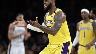 Coronavirus bei zwei Spielern der Los Angeles Lakers: Ob auch Superstar LeBron James darunter ist, wurde nicht bekannt gegeben