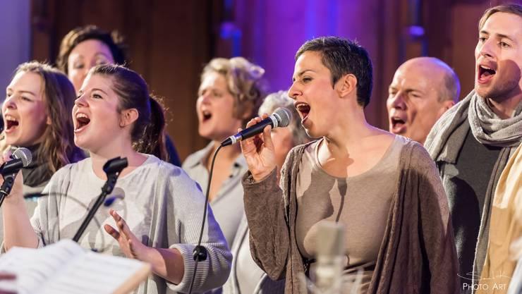Das Vokalensemble callia blu mit Band wurde letztes Jahr in Brugg gegründet.