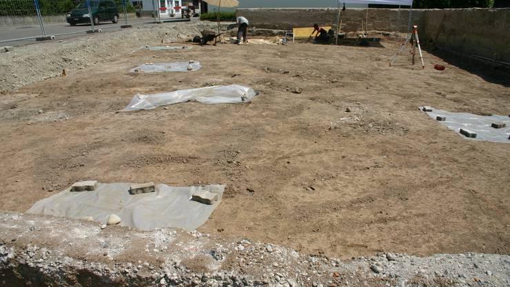 Das Ausgrabungsfeld in Unterengstringen.