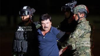 Joaquín «El Chapo» Guzmán bei seiner Verhaftung im Januar 2016.AP/Keystone
