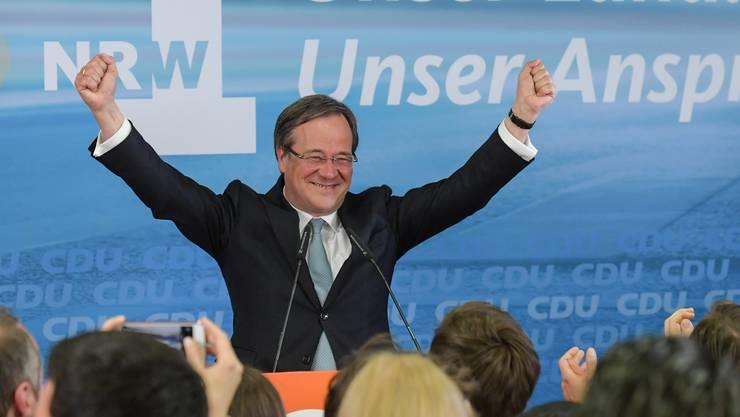 Armin Laschet von der CDU hat Grund zum Jubeln.