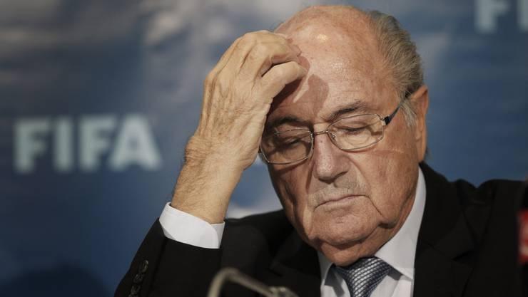 Seine Anwälte haben dem Fifa-Präsidenten den TV-Auftritt verboten: Sepp Blatter.