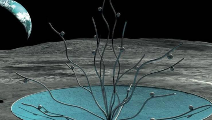 """So soll das Kunstwerk """"Vitae"""" von Anilore Banon einst an seinem Bestimmungsort auf dem Mond aussehen. (Handout)"""