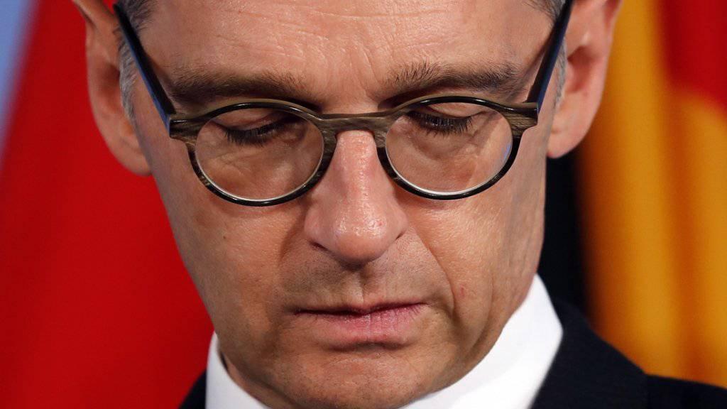 «Wir können uns nicht erlauben, wegzuschauen»: der deutsche Aussenminister Heiko Maas. (Archivbild)