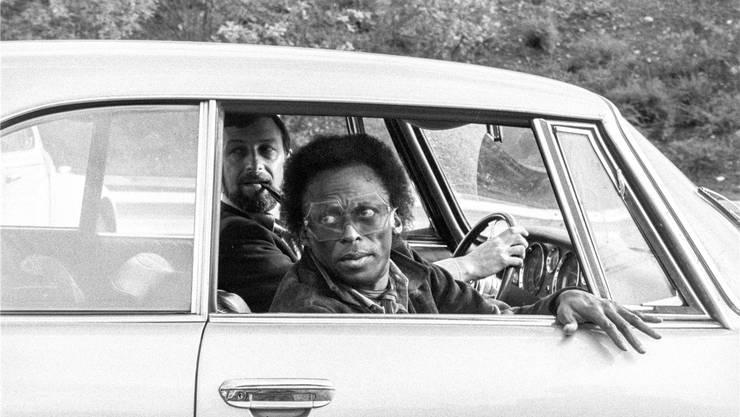 Der Jazzstar in der Schweiz: 1971 wird Miles Davis am Flughafen Zürich Kloten abgeholt. Keystone