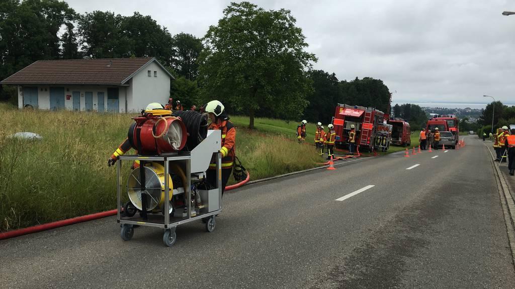 Die Feuerwehren im Einsatz.