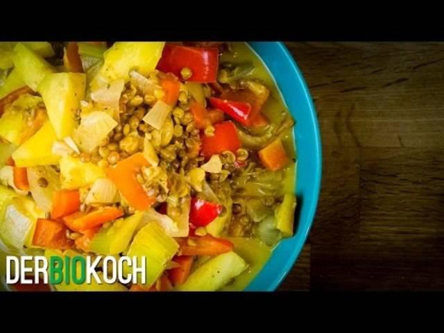 Indisches Curry Rezept vegan   Der Bio Koch #718