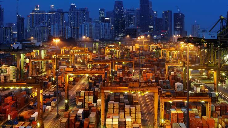 Der Hafen von Singapur: Von hier aus wird Druck auf die EU und das geplante TTIP-Abkommen gemacht.Edgar Su/Reuters