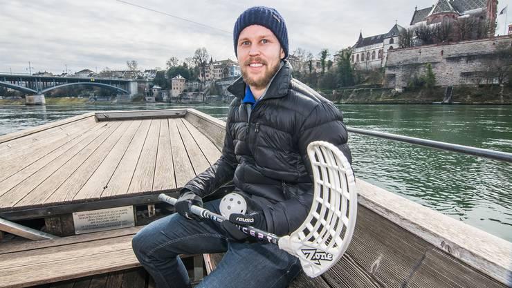 Ein lachender Finne ist so selten wie bis vor kurzem die Lachse im Rhein. Aber UBR-Topskorer Mikko Jalmo tickt einfach anders als die meisten seiner Landsleute