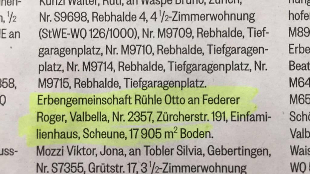 Diese Handänderung publizierte die Stadt Rapperswil-Jona am Freitag in der Linth-Zeitung.