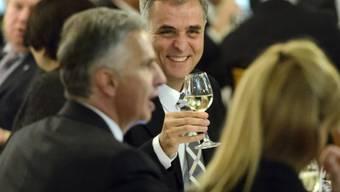 Didier Burkhalter (l.) und Basels Stadtpräsident Guy Morin