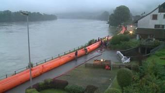 Schutz vor Hochwasser im Aargau: der Kanton will schon vorbeugende Massnahmen treffen.