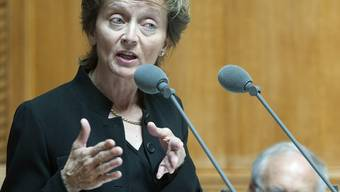 Bundesrätin Widmer-Schlumpf warnte vor einer Verkomplizierung des Steuersystems