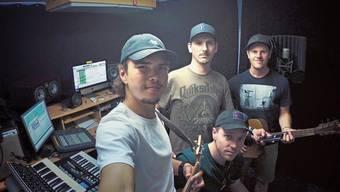 Ein spontanes Arrangement; die Band Chlii im Rahme: Kevin Schneider, Samuel Graf, Philipp Studer und Daniel Meister (von links).