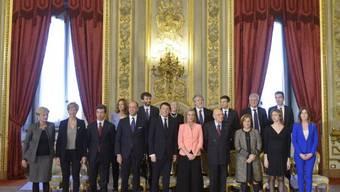 Die italienische Regierung um Premier Renzi (Archivbild)