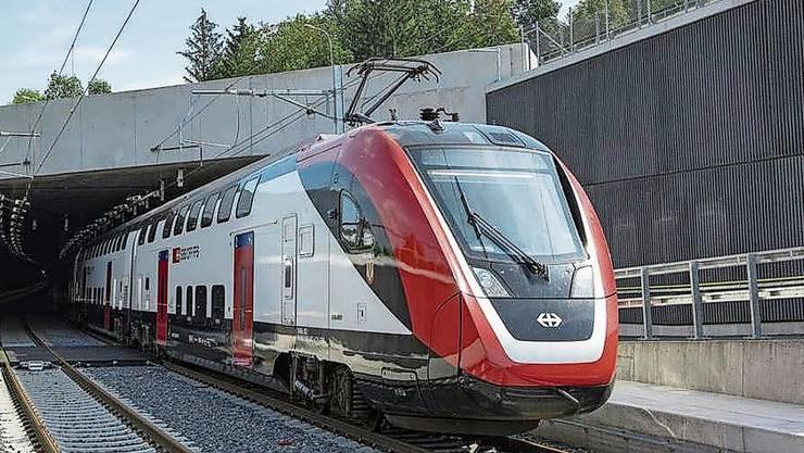 Seit wenigen Wochen fahren die Züge durch den neuen Eppenbergtunnel, hier das West-Portal bei Gretzenbach.