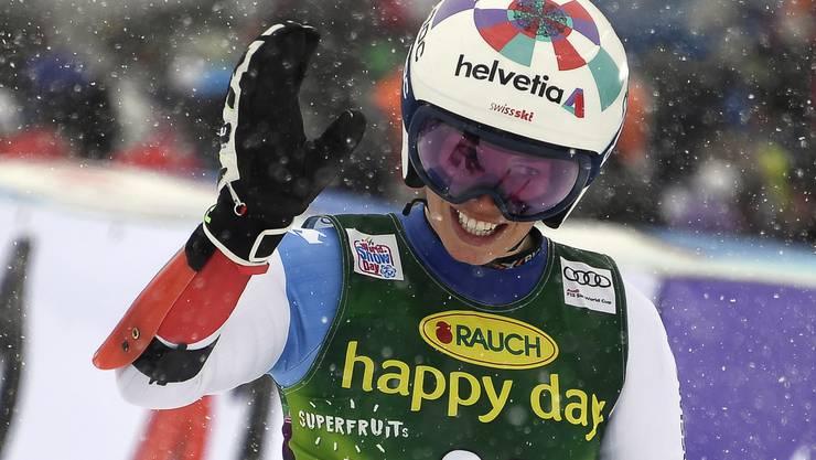Ein Tag der Freude für Michelle Gisin – bestes Resultat im Riesenslalom, aber keine Medaille.
