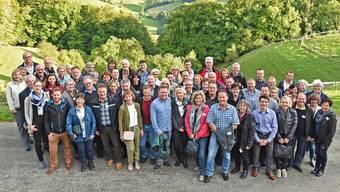 Ausscheidende, bisherige und neue Gemeindepräsidenten auf dem Herbstausflug auf die Wisner Hupp