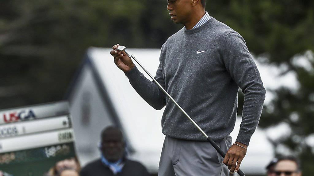 Der Putter lief nicht so heiss, wie Tiger Woods es sich gewünscht hatte