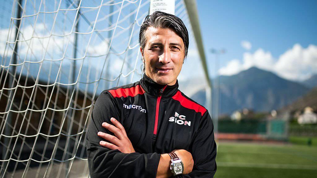 Darf gegen den FC Zürich erstmals auf der Sittener Trainerbank sitzen: Coach Murat Yakin