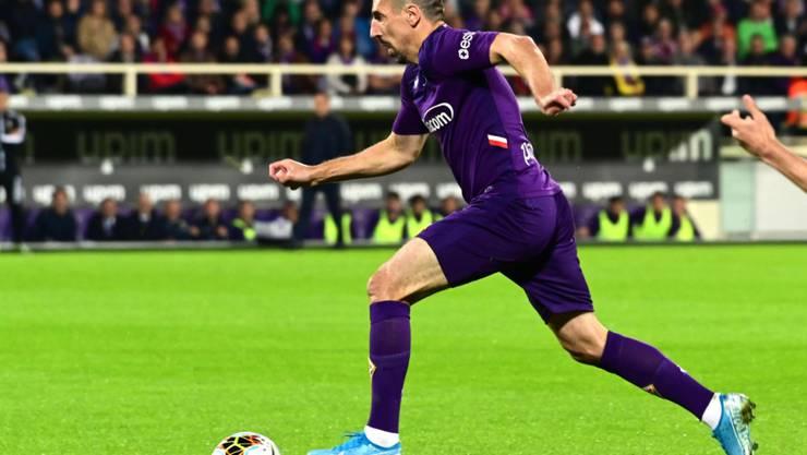 Franck Ribéry mit Zug aufs Tor.